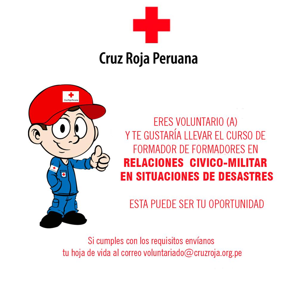 Curso TOT DE RELACIONES CÍVICO – MILITAR EN SITUACIONES DE DESASTRES