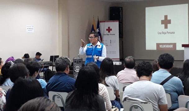 Cruz Roja Peruana celebra primera inducción de voluntarios del año en Lima